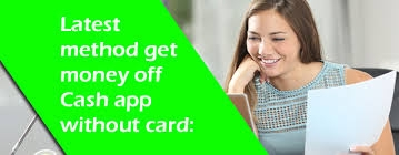 How a user get money off a cash app without card.